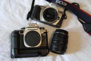 Canon Elan and Rebel 2000 35mm film cameras