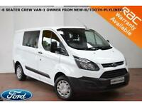 2015 Ford Transit Custom 2.2TDCi (100PS) Double Cab-in-Van 270-6 SEATS-NO VAT-