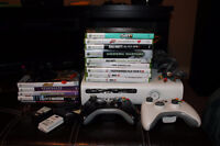 Xbox 360, 2 controllers, 1 kinect and 14 games