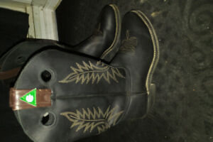 Canada West Boots  style 5289 CSA 9EEE Black Cowboy boots