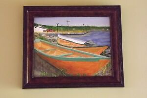 Original Oils  on Canvas board + Frame St. John's Newfoundland image 1