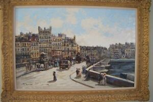 Painting of Pont Neuf  bridge in Paris Belleville Belleville Area image 1