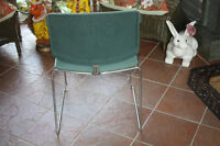 6 Max brand stackable upholstered life time warranty chairs