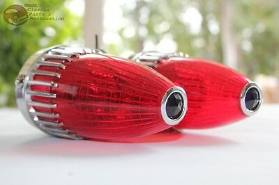 59 Cadillac Red Blue Dot Tail Lamp Lights Custom Car Truck Hot Rat Rod VW Pair