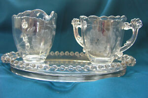 Cornflower Cream & sugar set