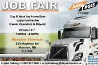 Job Fair Oct 21 from 9-4 Moncton Drivers & Owner Operators