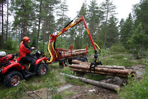 4x4 Log trailer and loader for your ATV starting at $249.00/M