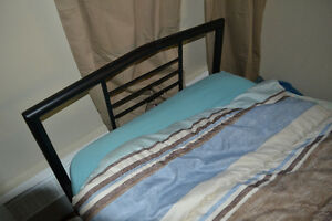 Single bed frame and mattres