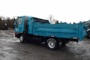 Dump Truck - Hino with separate tool box, and fold down sides