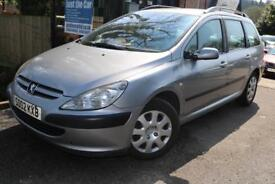 2002 Peugeot 307 2.0 HDi 90 LX Silver Estate PX TO CLEAR MOT DRIVING CAR