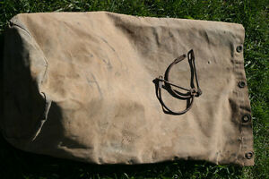 Canadian Military WWII 1943 Open Top Khaki Duffle Bag Vintage
