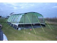 Hi-gear corado 8person tent, carpet and lots of setup equipment. Used less than 5 times