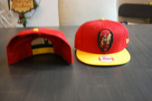 NEW ERA MARVEL COMICS IRON MAN FACE LOGO BASEBALL CAP HAT