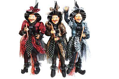 Hexe,48 cm,hängend,sitzend,Fasching,Hexenfiguren,Hexen,Deko,Leolook,Halloween
