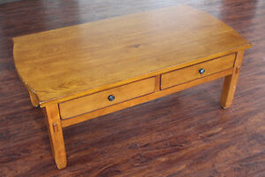 Broyhill Wood Coffee Table / Kneeling Desk With Large Drawers Peterborough Peterborough Area image 1