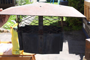 Chimney cap with screen