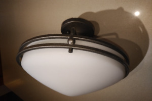 Quoizel Light Fixture - OZ1713IN, Ceiling, Round Frosted Glass