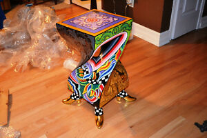 Art painted side table from Bancelona Gatineau Ottawa / Gatineau Area image 2