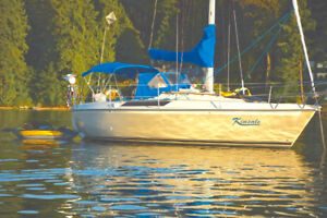 28' Edel 820 Aft Cabin Sailboat & 9' dinghy with new outboard