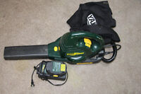 YARD WORKS LEAF BLOWER WITH BAG-BATTERY&CHARGER