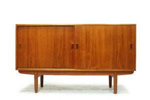 Vintage Mid Century Teak and Walnut Sideboards