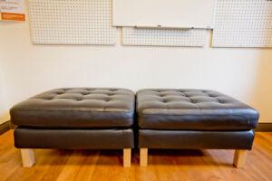 IKEA leather footstool x 2