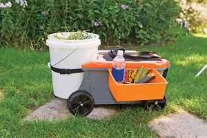 Fiskars Sit & Store Garden Caddy & Seat - Used West Island Greater Montréal image 2
