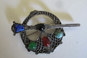 Vintage marked Miracle Celtic Penannular Brooch