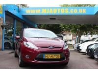 2010 60 FORD FIESTA 1.25 ZETEC 3DR HOT MAGENTA RED LOW MILEAGE