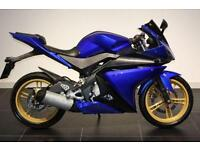 2011 YAMAHA YZF-R125 BLUE, GOLD WHEELS, HPI CLEAR!