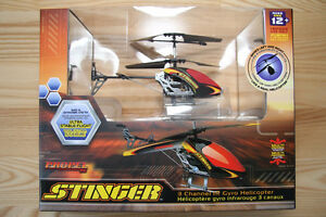 Stinger 3 Channel IR Remote Controlled Helicopter Toy NEW IN BOX