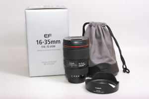 like new canon EF 16 35 F4 IS L USM ultra wide anlge zoom in box