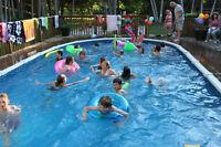 "Salt Water Buttress free above ground pool 15' x 30' x 52"""