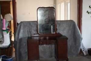 Makeup Desk and Mirror -Antique
