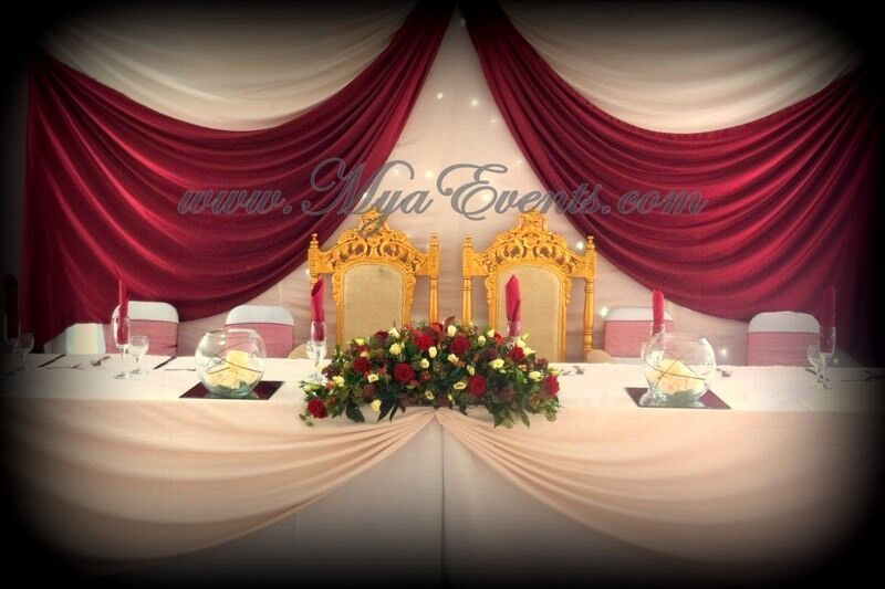 Head Table Decoration Hire 163 199 Throne Chair Hire Wedding