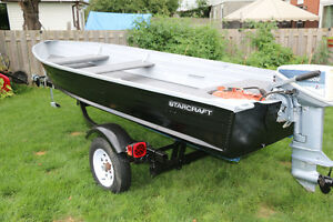 14 FT aluminum boat ,15HP Motor and Trailer for sale