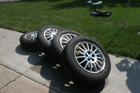 4 Michelin Defender 205/60R16 Tires w/ Rims