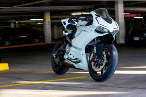 White Ducati Panigale 899 w/ $20,000 in upgrades
