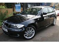BMW 118D M Sport Auto Diesel Black 5 Door Long MOT Full Service History Finance