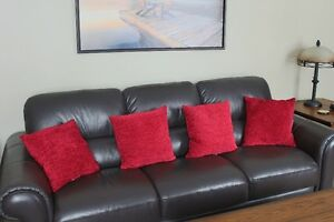 4 Red pillows for sale