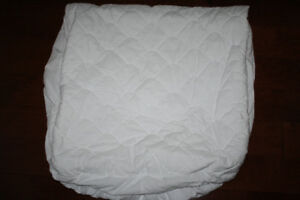 Quilted Crib Mattress Protector-Fitted