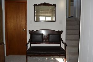 1920's Antique Settee with Matching Mirror