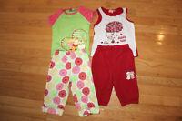 Pyjamas ÉTÉ fille grandeur 3X-4