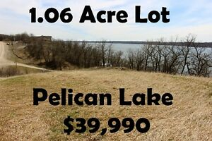 1.06 Acre Corner Lake View Lot at Pelican Lake, MB
