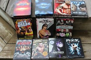 MULTI SETS OF WRESTLING DVDs  collectors editions