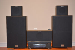 Sony FM/AM Receiver with Surround System + 5 speakers