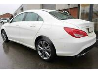 2017 WHITE MERCEDES CLA200D 2.1 SPORT DIESEL AUTO COUPE CAR FINANCE FR £257 PCM