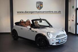 2008 08 MINI CONVERTIBLE 1.6 ONE SIDEWALK 2DR PEPPER PACK 89 BHP
