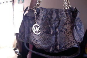 Authentic Michael Kors Leather Animal Print Brown Purse