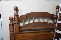 SOLID WOOD QUEEN SIZE BED FRAME - MUST GO!!!!!!  MAKE AN OFFER